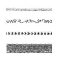 Chalk Lines Photopolymer Stamp Set
