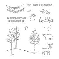 White Christmas Photopolymer Stamp Set