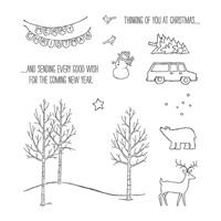 White Christmas Photopolymer Stamp Set