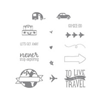 Project Life Let's Get Away Photopolymer Stamp Set