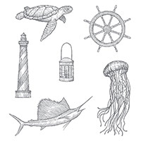 From Land To Sea Clear-Mount Stamp Set