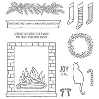 Festive Fireplace Photopolymer Stamp Set