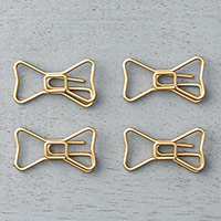 Bow Paper Clips Embellishments