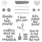 Love You Sew Wood-Mount Stamp Set