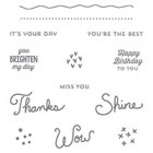 Sunburst Sayings Clear-Mount Stamp Set