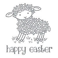 Easter Lamb Wood-Mount Stamp