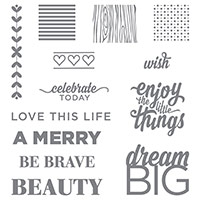 Enjoy The Little Things Photopolymer Stamp Set