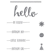 Hello Clear-Mount Stamp Set