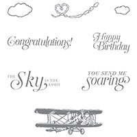 Sky Is The Limit Wood-Mount Stamp Set