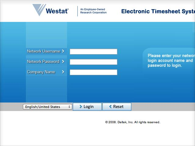 Westat Timesheet for NAEP
