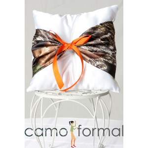 Pillow Ringbearer With Camo Accent Camouflage Prom Wedding