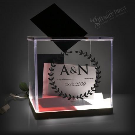 LED Light Up Wedding Personalised Acrylic Wishing Well