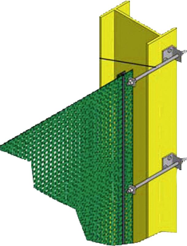 kit de montage avec tendeur pour tendreles filets brise vent h 1 0 m