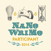 NaNoWriMo Participant Badge - get yours at nanowrimo.org.