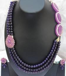 Buy Puple Pari Necklace Set necklace-set online