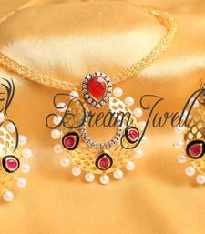 Buy GORGEOUS CZ BALI PENDANT NECKLACE SET necklace-set online