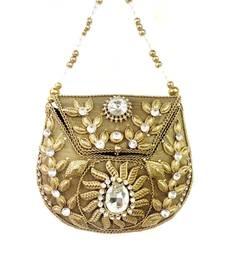 Buy Designer U-shape metal bag potli-bag online