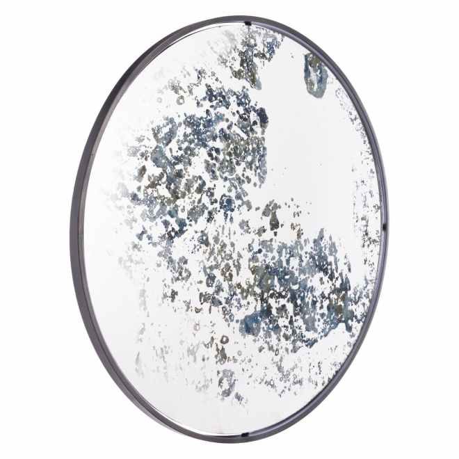 Antique Finish Round Mirror