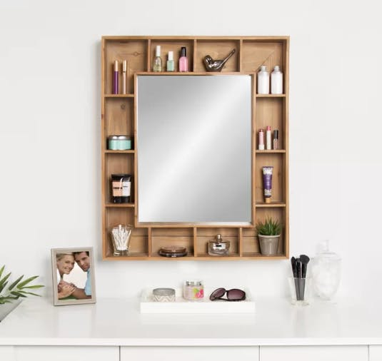 Loon Peak Rustic Cubby Mirror