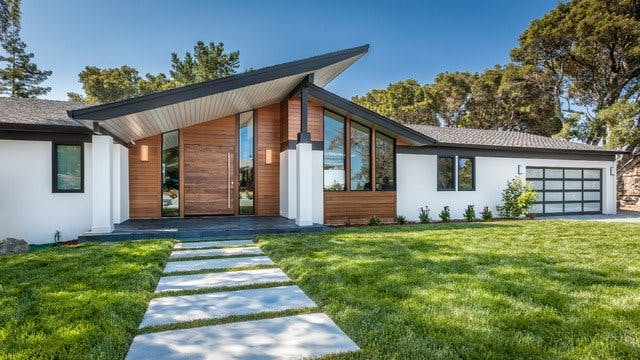 MidCentury Modern Exterior with Wood Siding