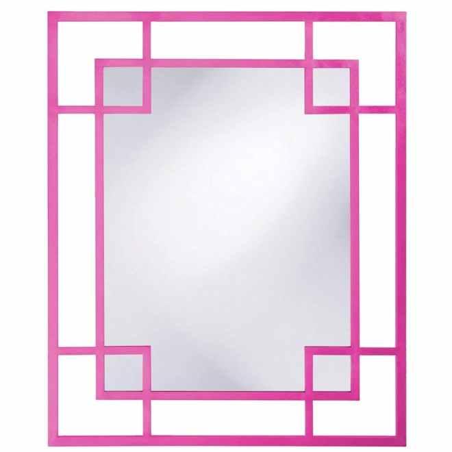 Pink Framed Mirror
