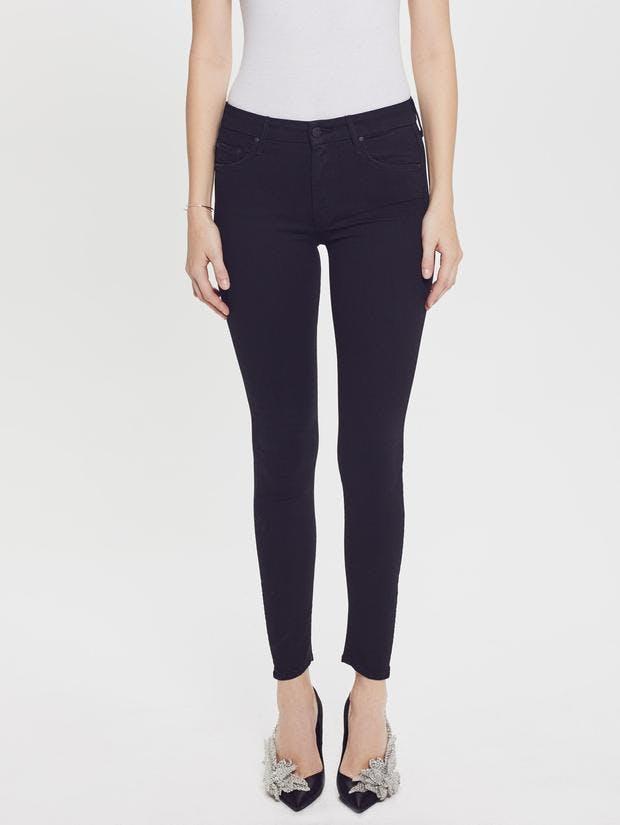mother jeans, mother denim, skinny jeans, black denim, distressed denim