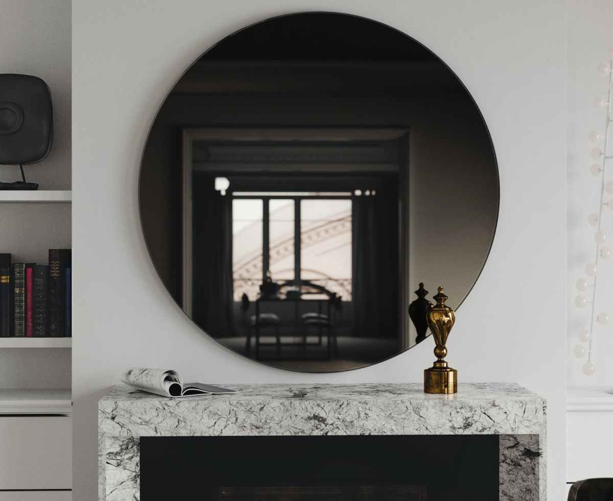 Black Glass Mirror