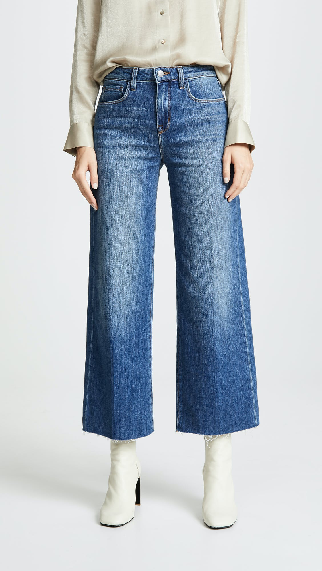 l'agence, l'agence jeans, wide leg jeans, cropped wide leg, cropped jeans