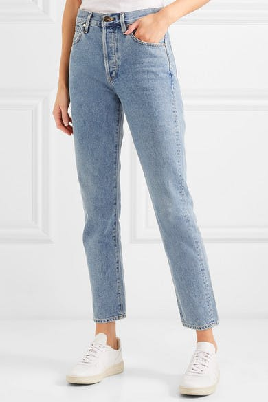 The Benefit High Rise Straight Leg Jeans
