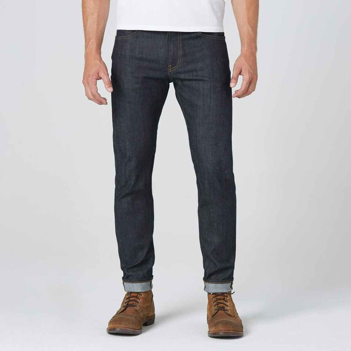 dstld, dstld jeans, raw denim, raw jeans, 24 dip, sanfornized denim, blue jeans, skinny slim jeans