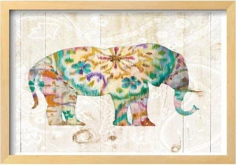 Boho Paisley Elephant