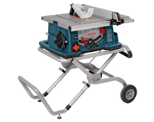 BOSCH 10-INCH WORKSITE TABLE SAW, WITH INNOVATIVE STAND