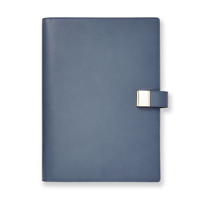 smythson, writing folder, agenda, leather, denimblog