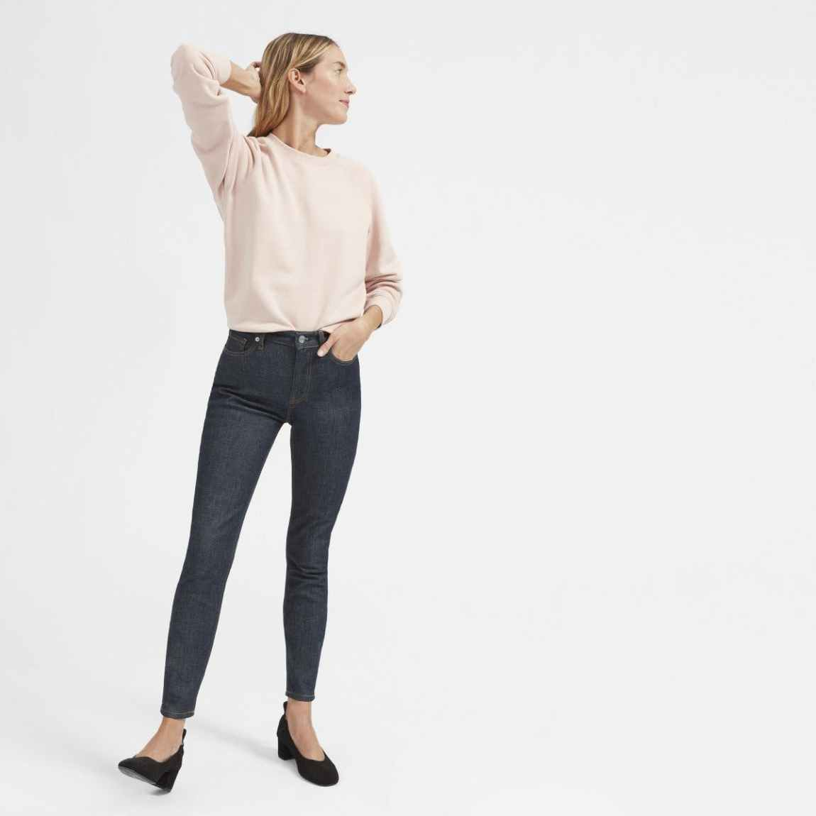 everlane, everlane jeans, everlane denim, japanese denim, raw denim, blue denim, cropped jeans, high rise jeans, skinny jeans, cropped jeans, denimblog, denim blog