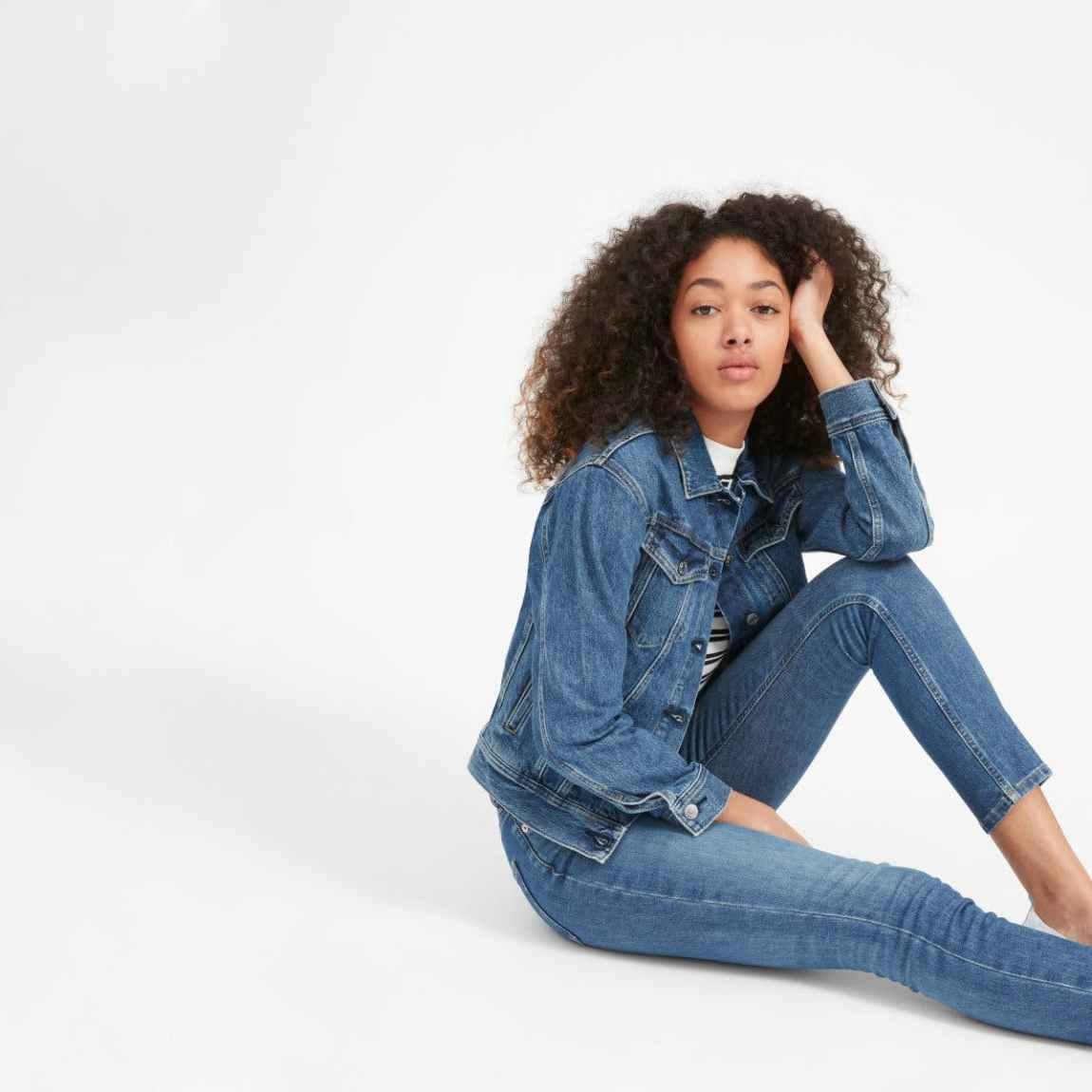 everlane, everlane jeans, everlane denim, denim jacket, washed blue, jean jacket, sustainable denim, japanese denim, denimblog, denim blog