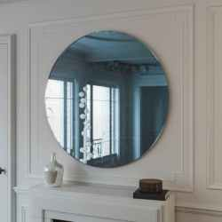 1950s Style Blue Wall Mirror