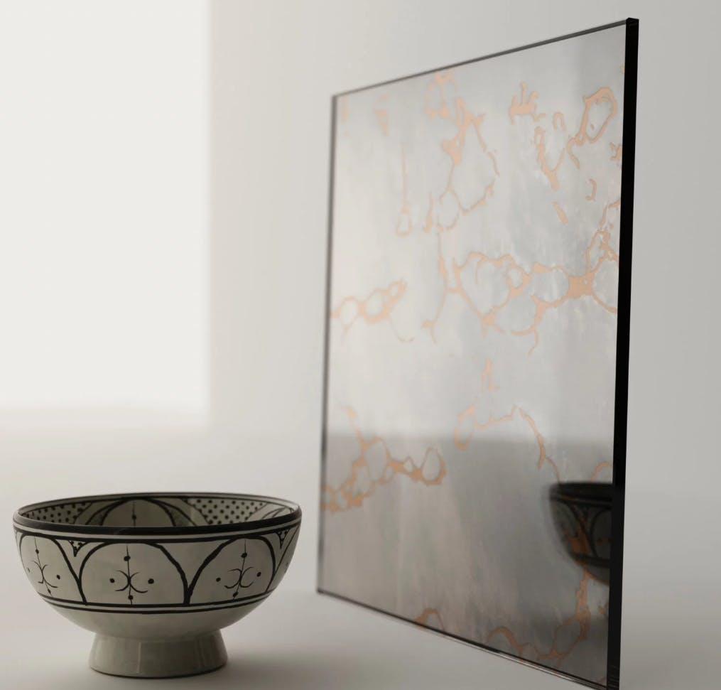 Find Antiqued Mirror tiles