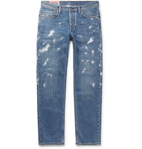 River Paint Splattered Jeans