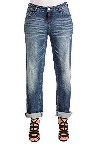 Rolled Boyfriend Jeans