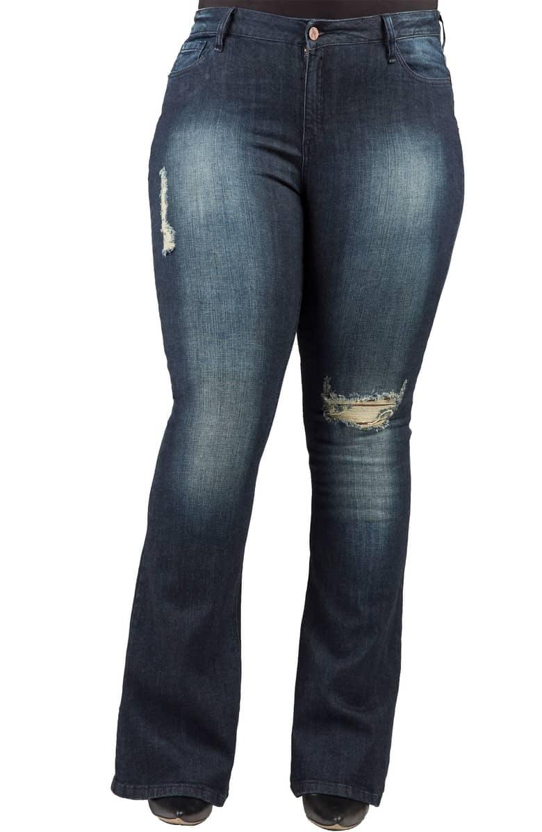 Kylie Curvy Fit Flare Leg Jeans