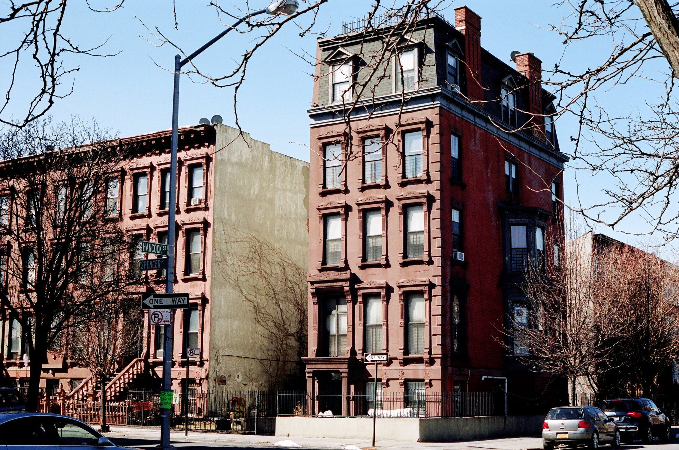 brownstone style building