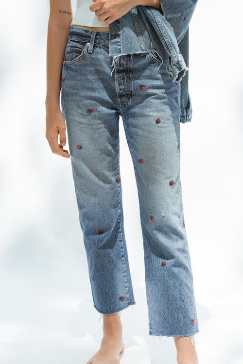 Loverboy by AMO, embroidered jeans