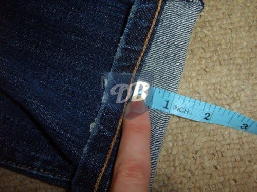 measure cuff of jeans