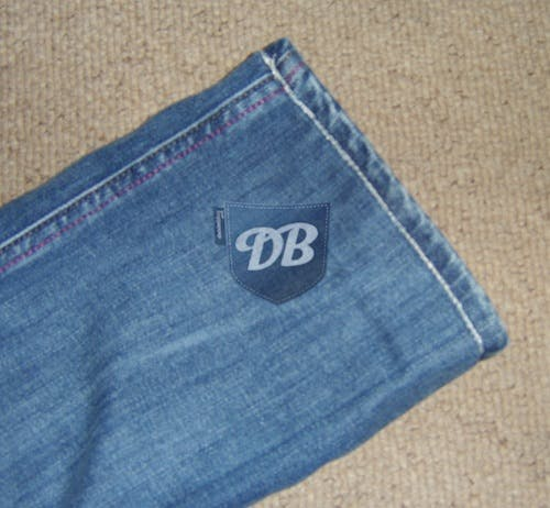 tailored jeans, hemmed jeans