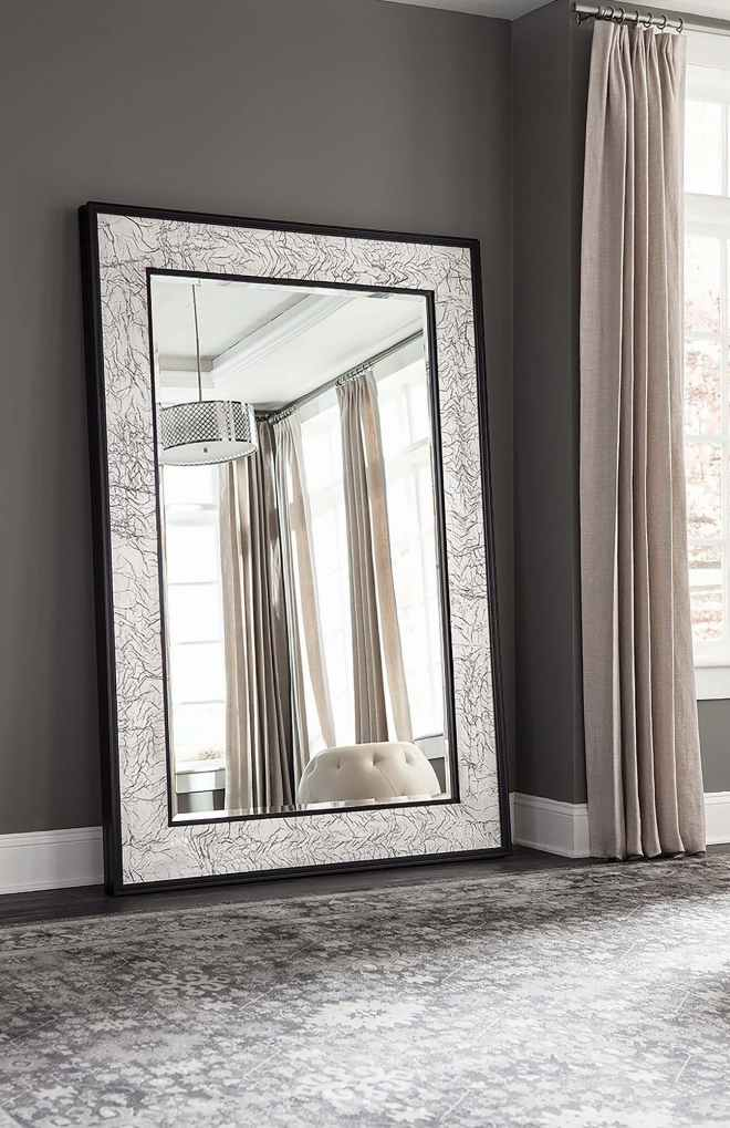 Black and Silver Bevel Mirror