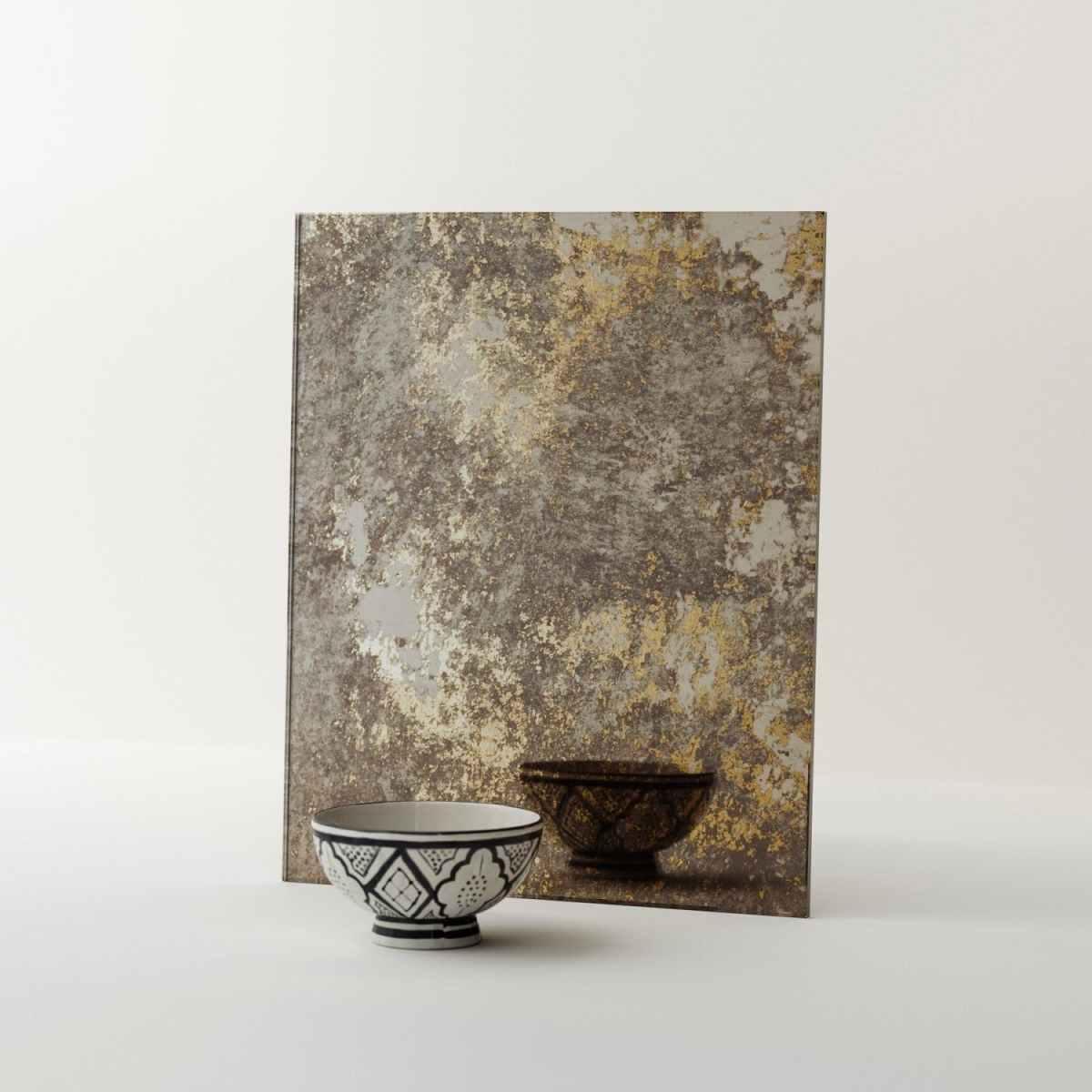 Custom Gold Antiqued Mirror