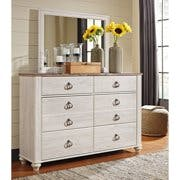 White Mirror and Dresser
