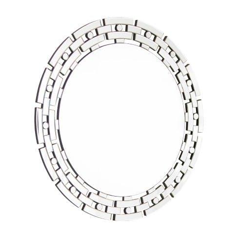 Chain Link Round Wall Mirror