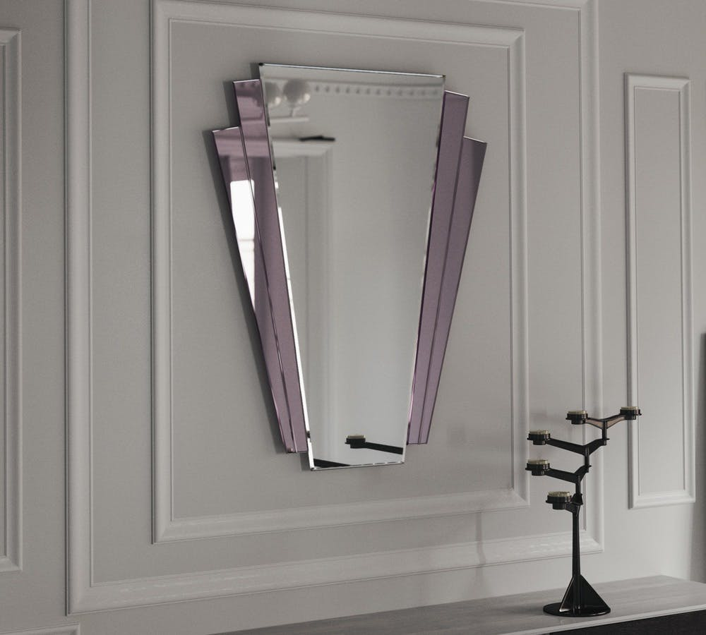 Art Deco Petal Mirror