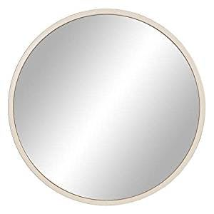 large white round mirror